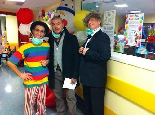 clown alla pediatria di Padova