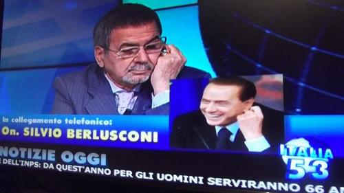 Berlusconi a canale italia dimezzeremo numero for Parlamentari numero