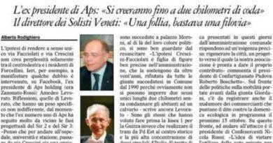 Tram in via Facciolati: tra palco e realtà le ipotesi di Giordani e Lorenzoni scricchiolano un bel po'
