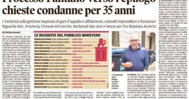 Processo Pantano alle battute finali: il pubblico ministero chiede 2 anni e mezzo per Filippo Ascierto