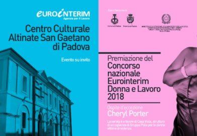 Venerdì 14/12 al San Gaetano la premiazione del Concorso nazionale Eurointerim Donna e Lavoro